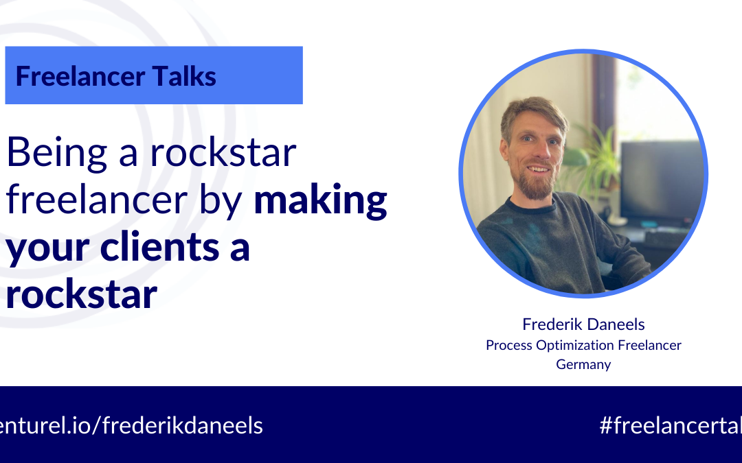 How to be a rockstar freelancer by making your client a rockstar with Frederik Daneels